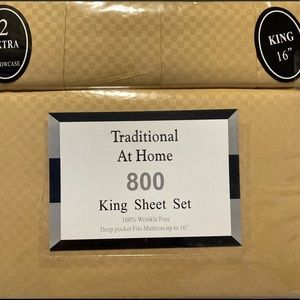 Traditional At Home 6p King Sheet Set sunflower
